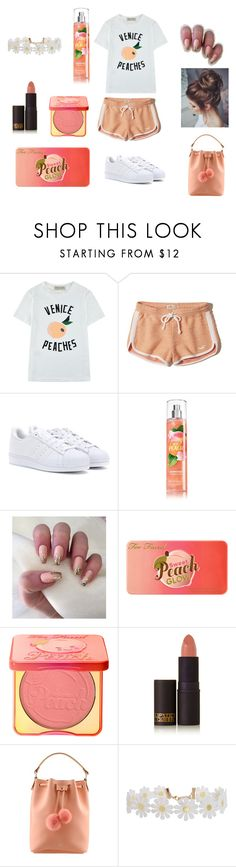 """Untitled #42"" by lopezmichelle2173 on Polyvore featuring Être Cécile, Hollister Co., adidas, Too Faced Cosmetics, Lipstick Queen and Humble Chic"