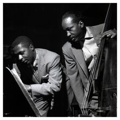 """musician-photos: Wynton Kelly and Gene Ramey, Sonny Rollins """"Volume I"""" session, Hackensack, New Jersey December 1956 by Francis Wolff. Jazz Artists, Jazz Musicians, Jazz Blues, Blues Music, Wynton Kelly, Big Band Leaders, Francis Wolff, Jazz Cat, Sonny Rollins"""
