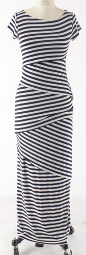 Taupe/Navy Multi Stripe Dress http://sexymodest.ecwid.com/simple-store#    I'd LOVE to make a skirt like this..but I don't see the dress happening. :)
