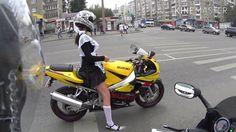 1 Сентября День знаний Суровая Челябинская школьница поехала в школу на ...
