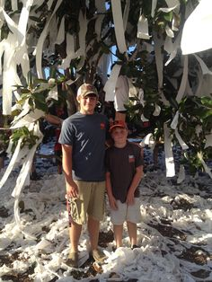 Colby and Clay at Toomer's Corner