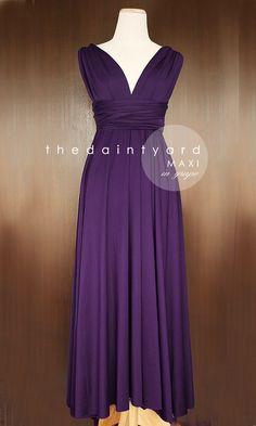 0653941a979 Maxi Grape Bridesmaid Prom Wedding Infinity Dress by thedaintyard