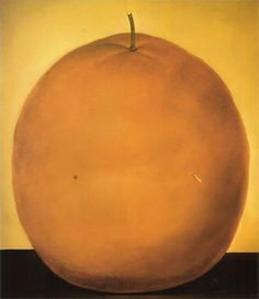 """Fernando Botero (Colombian, b. 1932): Orange, 1977. Oil on canvas, 195 x 225 cm. Private Collection.  """"According to El Maestro, as he is often referred to, the volume and exaggerated sizes in his art work are but a mere glorification of sensuality and life."""" © 2013 TheHuffingtonPost.com, Inc."""