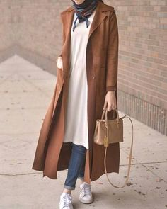 New Hijab Fashion : long camel coat hijab-New winter hijab fashion looks – Just Trendy Girls Modern Hijab Fashion, Street Hijab Fashion, Hijab Fashion Inspiration, Islamic Fashion, Abaya Fashion, Muslim Fashion, Fashion Outfits, Hijab Fashion Casual, Style Inspiration