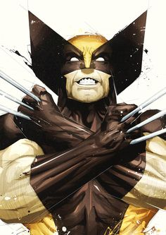 Wolverine // Art by Boingflo