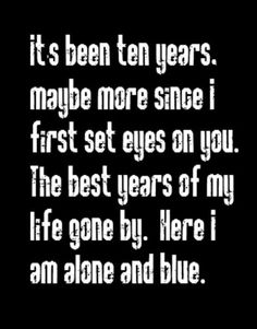 Led Zeppelin - Ten Years Gone - song lyrics, music lyrics, song quotes