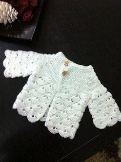 Baby crochet sweater