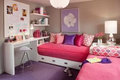 girls shared bedroom ideas. Allison's Room - contemporary - kids - san francisco - ScavulloDesign Interiors
