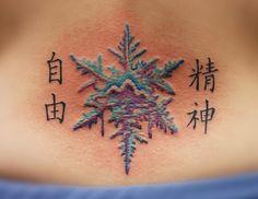 snowflake tattoo