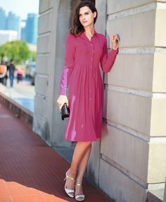 777169ca503eb Aliexpress.com   Buy VOA 2016 autumn multicolor silk long sleeved dress  Slim single breasted European style pleated A0300 from Reliable dress ge  suppliers ...