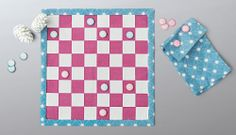 With checkers pieces this cute, it doesn't matter whether you win or lose.