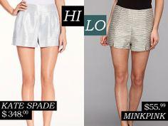 Hi/Lo Silver Shorts