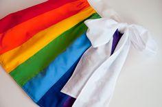 Aesthetic Nest: Sewing: Rainbow Wrap Skirt (Tutorial)