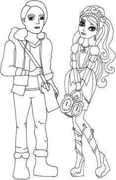 Free Printable Ever After High Coloring Pages: Ashlynn Ella and ...