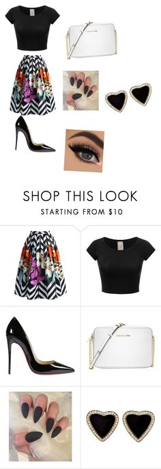 """""""something I would wear"""" by shttylnd ❤ liked on Polyvore featuring Chicwish, Christian Louboutin and Michael Kors"""
