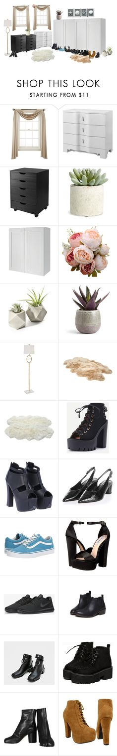"""""""[ GEMINI TV ] GEMINI's new dorms { Mina, AhnJeong, Karen, MiRae & HyeRin's bedroom"""" by xxeucliffexx ❤ liked on Polyvore featuring interior, interiors, interior design, home, home decor, interior decorating, Liz Claiborne, Bungalow 5, Winsome and Allstate Floral"""