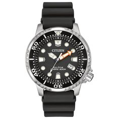 f3d94e6873f00 Citizen Men s BN0150-28E ISO-compliant Promaster Diver Black Dial  Polyurethane and Stainless Steel Watch