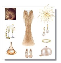 """""""Happy New Year 🍾🎉"""" by the-way-she-wears-it-finspo ❤ liked on Polyvore featuring Steve Madden, Chanel, Marchesa, Blue Nile, Swesky and Guerlain"""