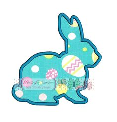 Bunny Digital Machine Applique Embroidery by ButterflyStitchesemb
