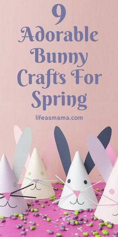 One of the best times to craft with the kiddos is around a holiday. Bunnies are so cute and of course exciting for kids because of the Easter bunny, so you can imagine how happy they'll be to make some bunny crafts. Here are some ideas for a few adorable bunny crafts you can make with your kiddos for Easter.
