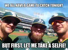 Catcher selfie