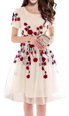 Simple dresses, beautiful dresses, dresses with sleeves, prom dresses, summ Stylish Dresses, Simple Dresses, Cute Dresses, Beautiful Dresses, Vintage Dresses, Casual Dresses, Short Dresses, Dresses Dresses, Dresses With Sleeves