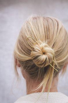 91 Magazine chats to jewellery designer Clare Elizabeth Kilgour Hair Up Styles, Medium Hair Styles, Midi Hair, Easy Hair Up, Short Hair Bun, Low Bun Hairstyles, Mid Length Hair, Bridesmaid Hair, Hair Lengths