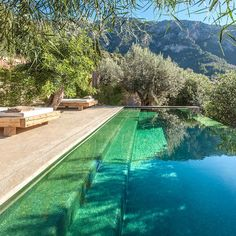Pool and mountains in Mallorca