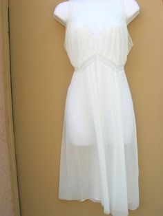 1950s crystal pleated sheer nightgown by Cherrybombsvintage, $40.00