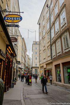 Historical old town of Salzburg, Austria