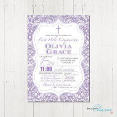 First Communion Baptism Confirmation by StyleswithCharm on Etsy, $12.00