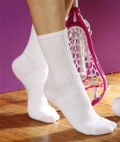 GL651 Gildan Ladies' Blended Crew Socks 6-Pk - White - One Gildan. $7.50