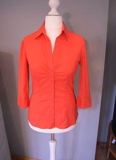 Kaufe meinen Artikel bei #Kleiderkreisel http://www.kleiderkreisel.de/damenmode/blusen/136714522-rotorange-stretch-bluse-mit-brustraffung-und-dreiviertel-armeln