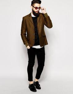 Image 4 of ASOS Slim Fit Blazer With Rib Cuffs Moda Masculina ea25f6f0164