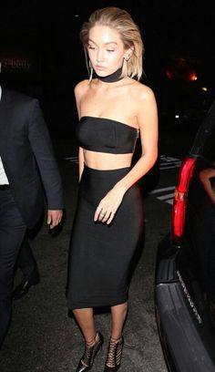 Gigi hadid #black #short_hair