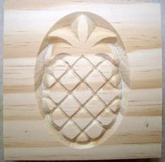 "pineapple rosette block 3-1/2"" X 3/4"" oak, pine,MDF paint custom size available | eBay"