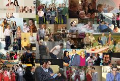 collage of modern family.