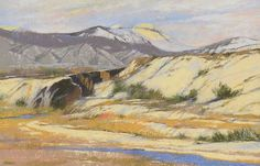 """""""On the High Road to Taos,"""" Albert Handell, pastel on paper, 13 3/4 x 21 1/2"""", private collection."""