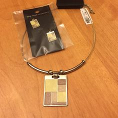 NY&C Jewelry Set Yellow and brown modern style necklace and matching earrings! New with tags!! Originally about $26 all together. New York & Company Jewelry Necklaces