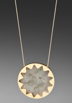 House of Harlow Sunburst Pendant Necklace in Gold, so gorgeous