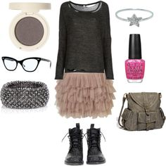 My imaginary outfit for the day. Created on Polyvore.com