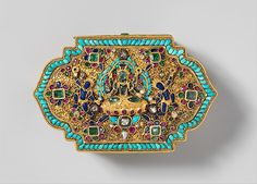 """Leaf-Shaped Box, 17th–19th century. Tibet. The Metropolitan Museum of Art, New York. John Stewart Kennedy Fund, 1915 (15.95.167) 