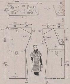 Cómo interpretar y dibujar un patrón chino gratuito. Vestido o top muy fácil