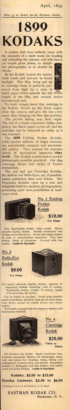 Kodak – 1899 Kodaks (1899)