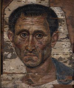 Il ritratto maschile. Fayyum, I–II secolo.Museo statale di arti figurative A.S. Puškin, Mosca