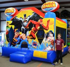 Superhero Justice League Bounce House Jumper - Affordable Moonwalk Rentals - Covington, Georgia