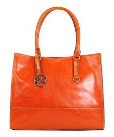 Paprika Kimberley Tote by emilie m. #orange