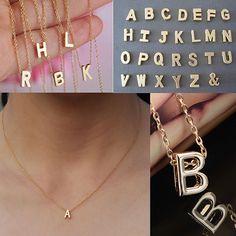 2015熱い販売の女性の金属合金diy手紙名前イニシャルリンクチェーンチャーム韓国スタイルネックレス56A6