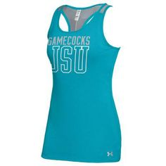 Blue Under Armour Tank. I love the color of this JSU tank top! Great for supporting the Jacksonville State University Gamecocks and getting your workout on!