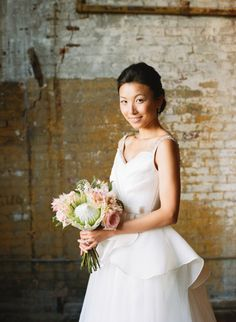 Simple hair and minimal makeup: http://www.stylemepretty.com/2015/06/01/all-natural-bridal-beauty-inspiration/